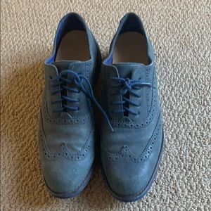 Cole Haan blue suede shoes size 9